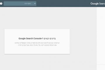 Google Search Console – גרסת הביטא החדשה של גוגל